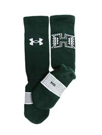 Under Armour H Logo Green Crew Socks