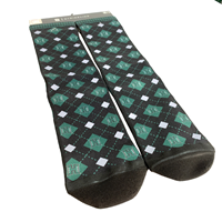 Strideline Checker Print Crew Socks