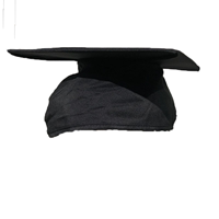 Black Graduation Cap Surefit